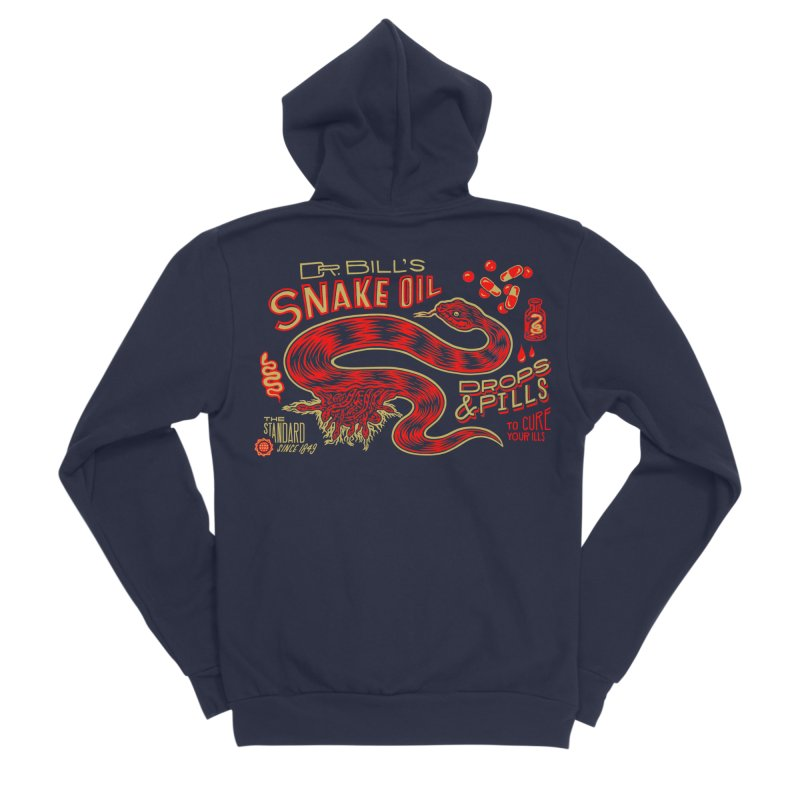 Snake Oil No. 2 Men's Sponge Fleece Zip-Up Hoody by redleggerstudio's Shop