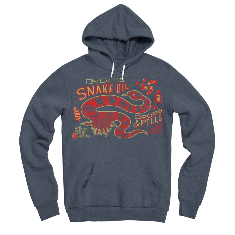 Snake Oil No. 2 Men's Sponge Fleece Pullover Hoody by redleggerstudio's Shop