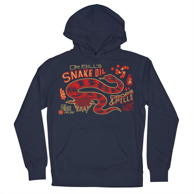 Snake Oil No. 2 Women's French Terry Pullover Hoody by redleggerstudio's Shop