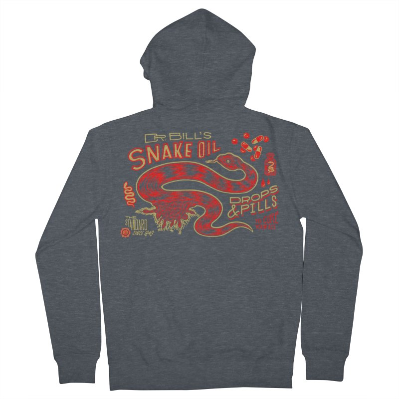Snake Oil No. 2 Women's French Terry Zip-Up Hoody by redleggerstudio's Shop