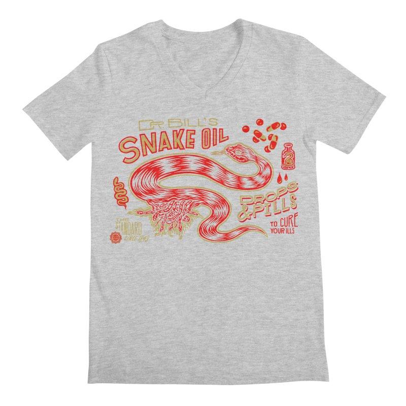 Snake Oil No. 2 Men's Regular V-Neck by redleggerstudio's Shop