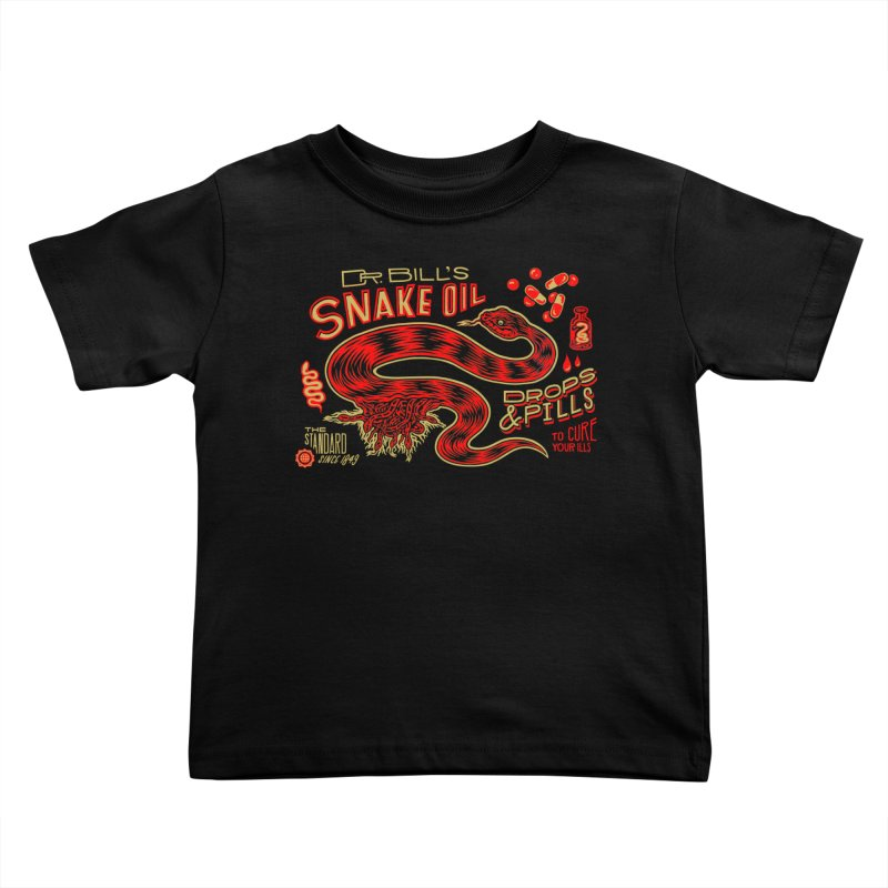 Snake Oil No. 2 Kids Toddler T-Shirt by redleggerstudio's Shop