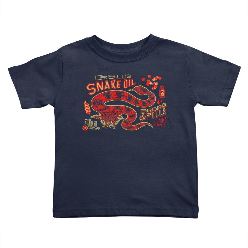 Snake Oil No. 2 Kids Toddler T-Shirt by redleggerstudio's Shop