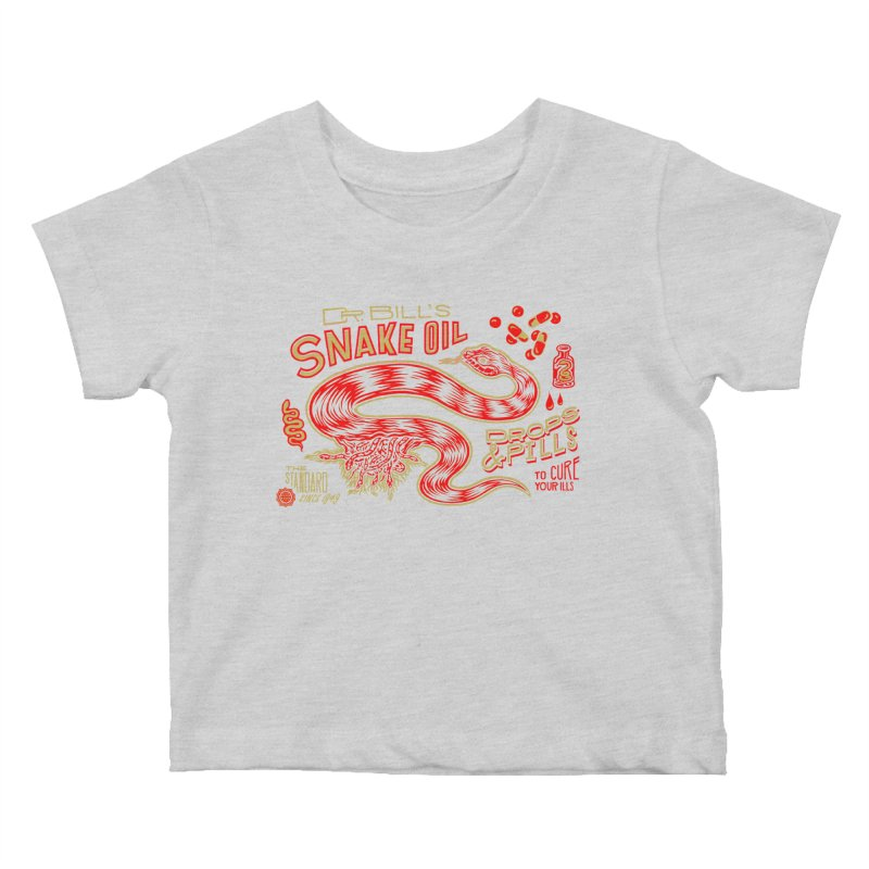 Snake Oil No. 2 Kids Baby T-Shirt by redleggerstudio's Shop
