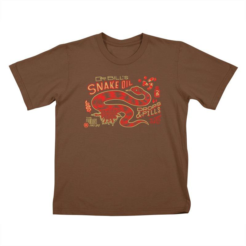 Snake Oil No. 2 Kids T-Shirt by redleggerstudio's Shop