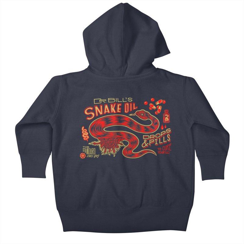 Snake Oil No. 2 Kids Baby Zip-Up Hoody by redleggerstudio's Shop