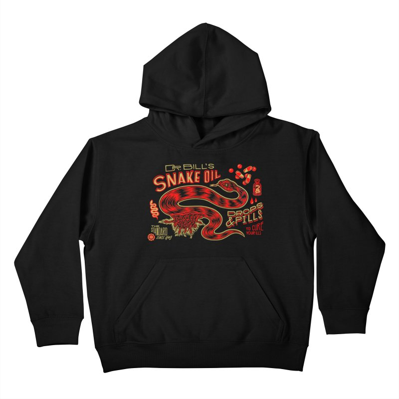 Snake Oil No. 2 Kids Pullover Hoody by redleggerstudio's Shop