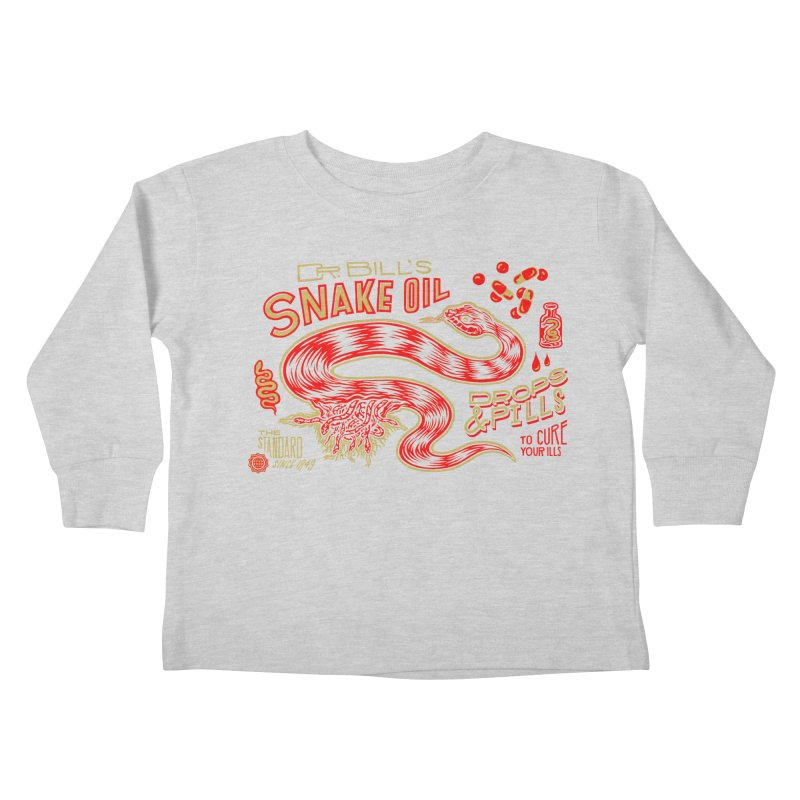 Snake Oil No. 2 Kids Toddler Longsleeve T-Shirt by redleggerstudio's Shop