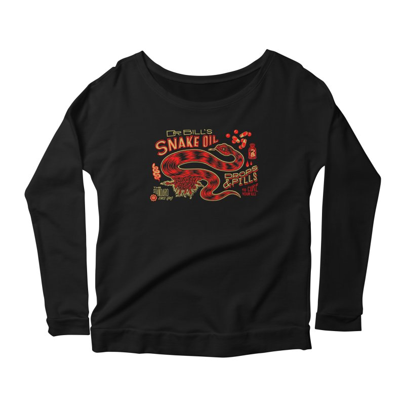 Snake Oil No. 2 Women's Scoop Neck Longsleeve T-Shirt by redleggerstudio's Shop