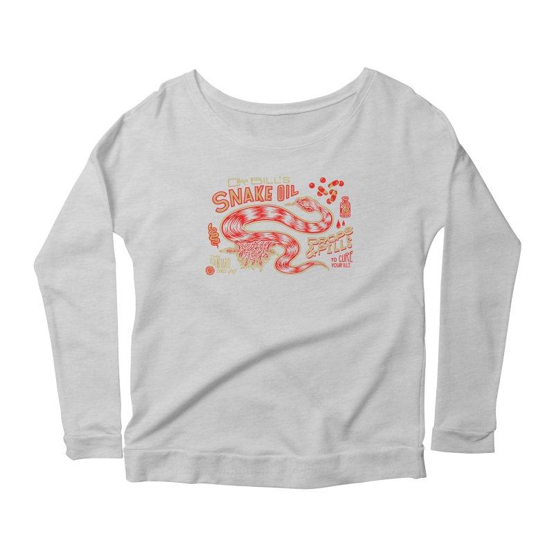 Snake Oil No. 2 Women's Scoop Neck Longsleeve T-Shirt by redleggerstudio's Shop