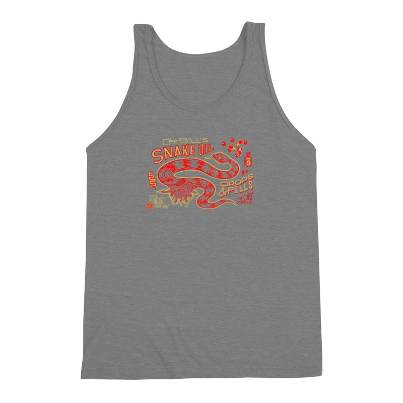 Snake Oil No. 2 Men's Triblend Tank by redleggerstudio's Shop