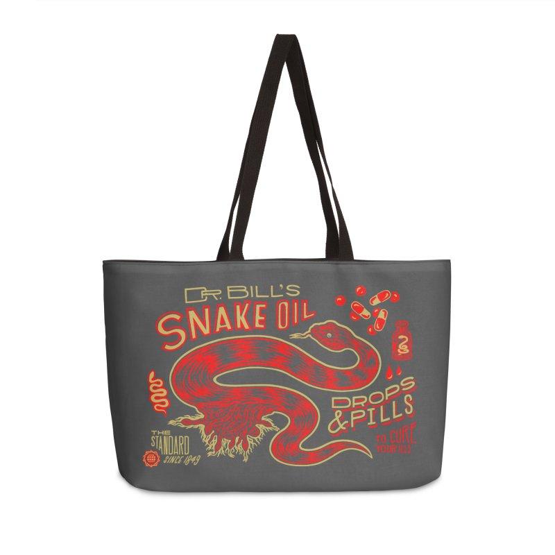 Snake Oil No. 2 Accessories Weekender Bag Bag by redleggerstudio's Shop