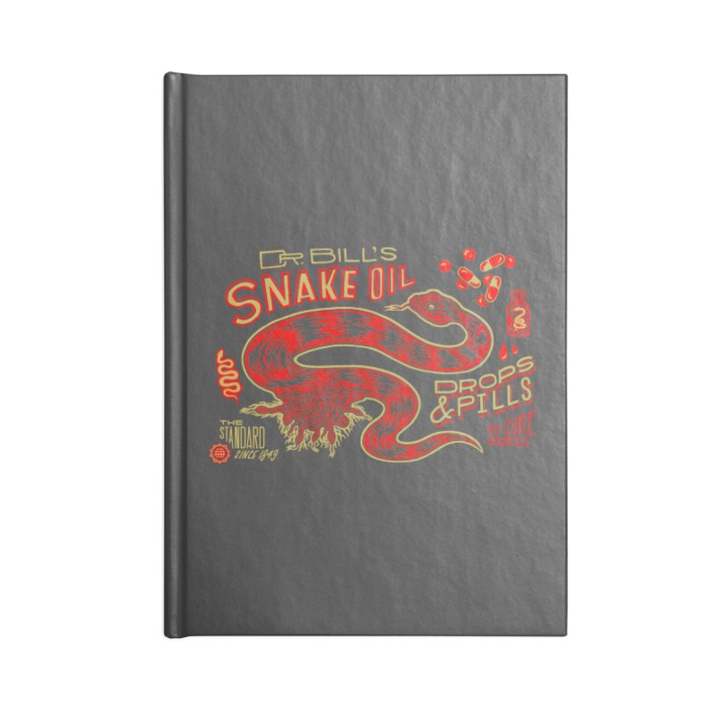 Snake Oil No. 2 Accessories Lined Journal Notebook by redleggerstudio's Shop
