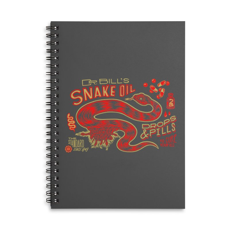 Snake Oil No. 2 Accessories Lined Spiral Notebook by redleggerstudio's Shop