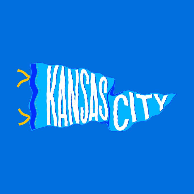 Kansas City Pennant Blue Home Shower Curtain by redleggerstudio's Shop