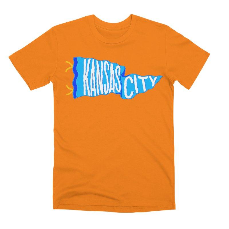 Kansas City Pennant Blue Men's T-Shirt by redleggerstudio's Shop