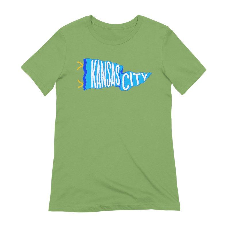 Kansas City Pennant Blue Women's Extra Soft T-Shirt by redleggerstudio's Shop