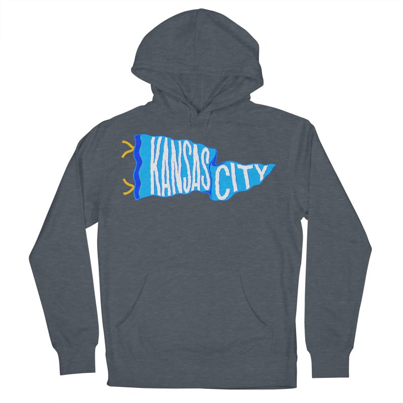 Kansas City Pennant Blue Women's French Terry Pullover Hoody by redleggerstudio's Shop