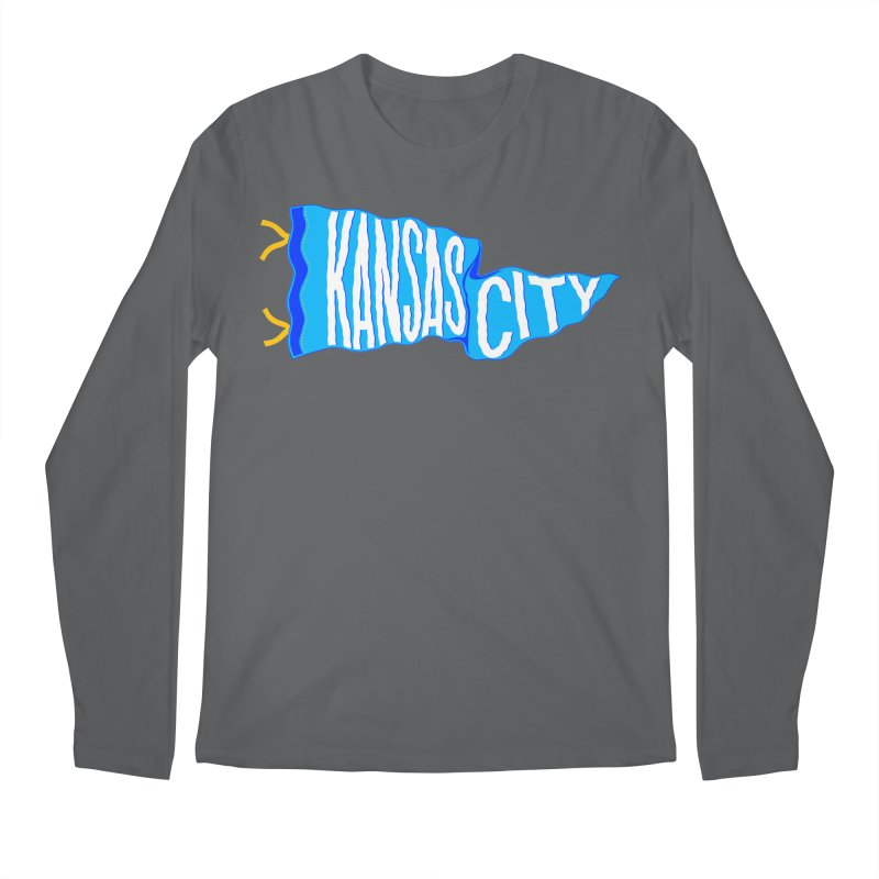Kansas City Pennant Blue Men's Regular Longsleeve T-Shirt by redleggerstudio's Shop