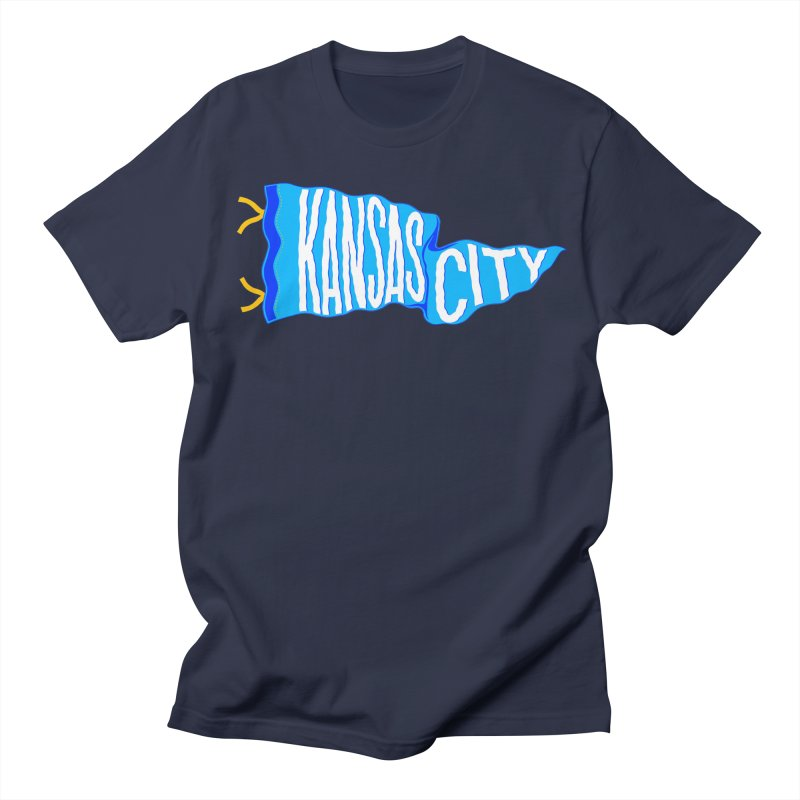 Kansas City Pennant Blue Women's Regular Unisex T-Shirt by redleggerstudio's Shop