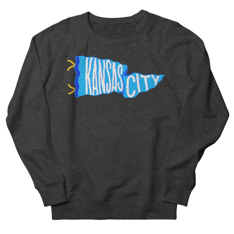 Kansas City Pennant Blue Women's French Terry Sweatshirt by redleggerstudio's Shop