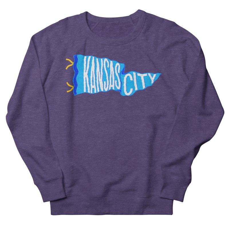 Kansas City Pennant Blue Men's French Terry Sweatshirt by redleggerstudio's Shop