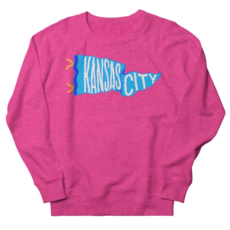 Kansas City Pennant Blue Men's French Terry Sweatshirt by redleggerstudio's Shop