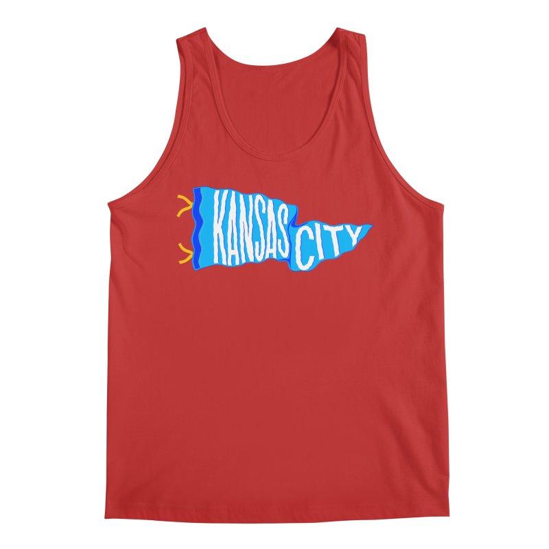 Kansas City Pennant Blue Men's Regular Tank by redleggerstudio's Shop