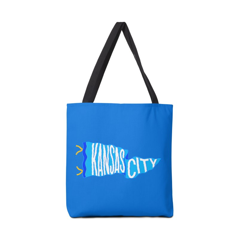 Kansas City Pennant Blue Accessories Tote Bag Bag by redleggerstudio's Shop