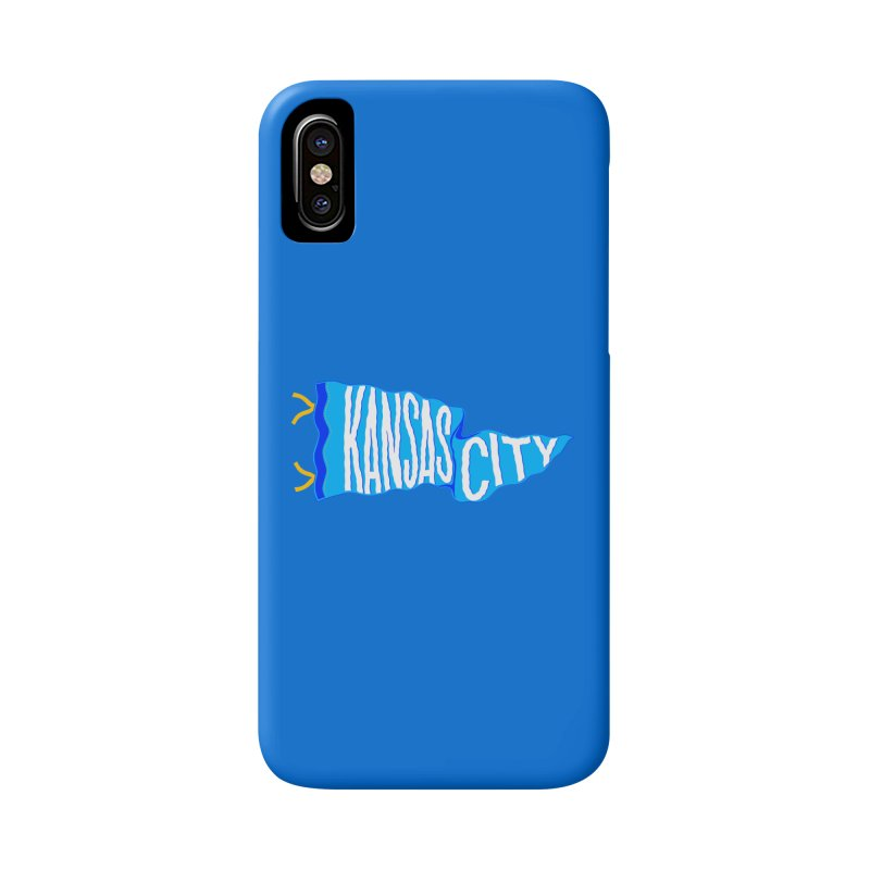 Kansas City Pennant Blue Accessories Phone Case by redleggerstudio's Shop