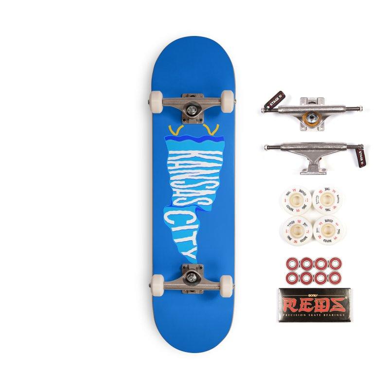 Kansas City Pennant Blue Accessories Complete - Pro Skateboard by redleggerstudio's Shop