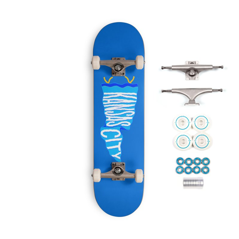 Kansas City Pennant Blue Accessories Complete - Basic Skateboard by redleggerstudio's Shop