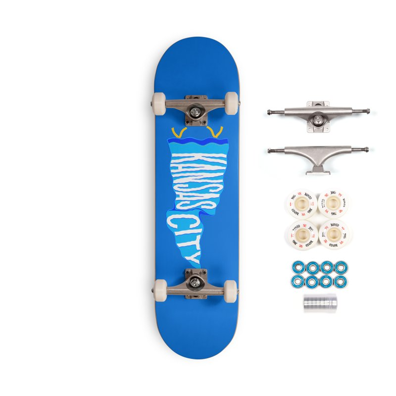 Kansas City Pennant Blue Accessories Complete - Premium Skateboard by redleggerstudio's Shop