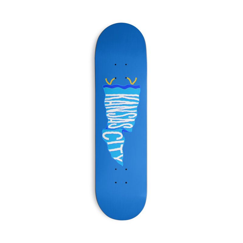 Kansas City Pennant Blue Accessories Deck Only Skateboard by redleggerstudio's Shop