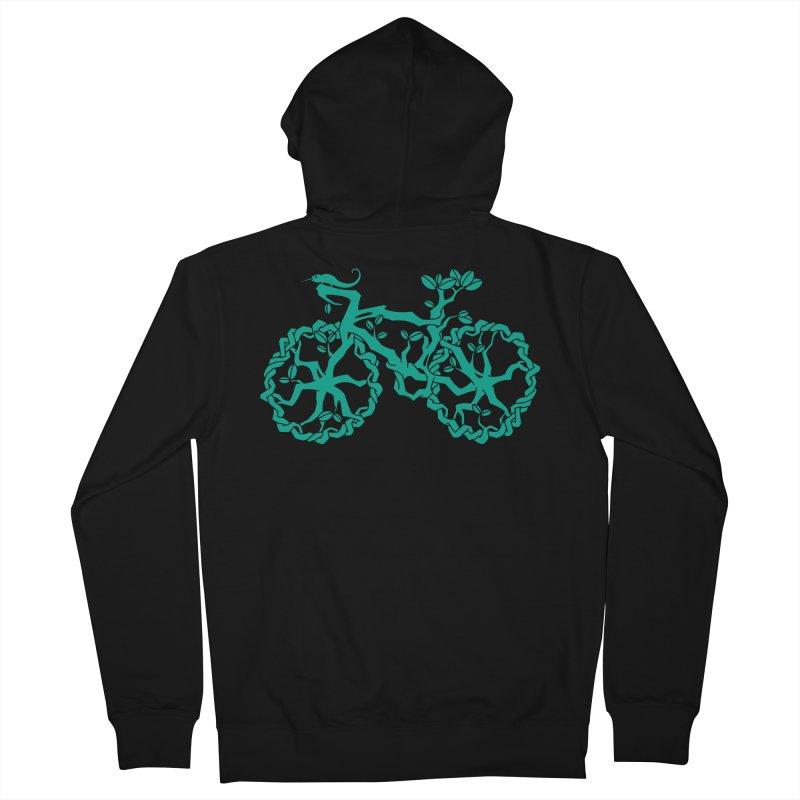 Bike Tree Men's Zip-Up Hoody by redmunky's Artist Shop
