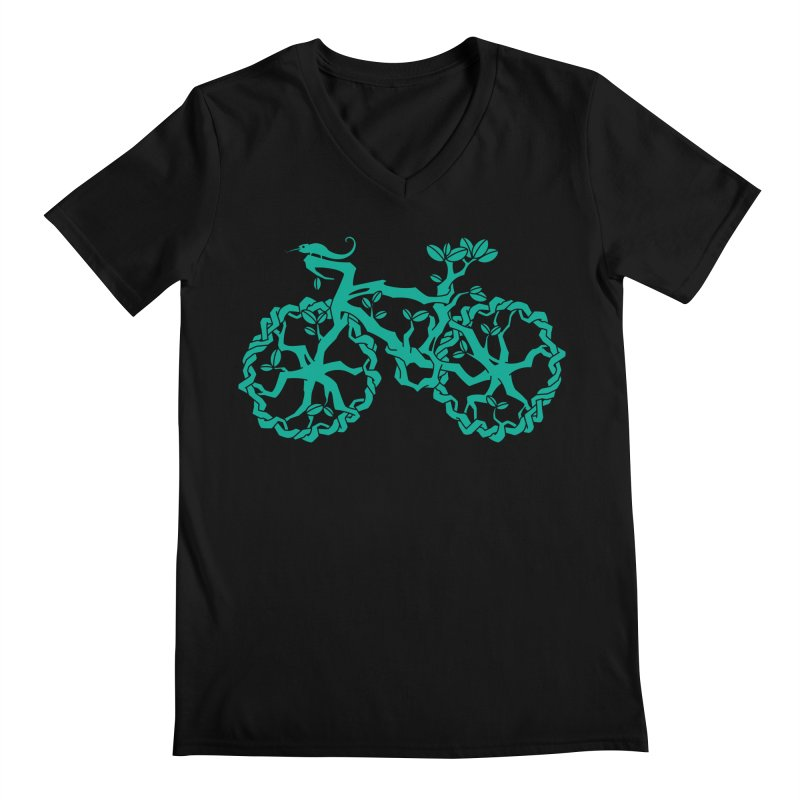 Bike Tree Men's V-Neck by redmunky's Artist Shop