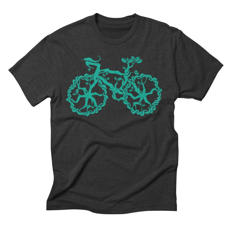 Bike Tree Men's Triblend T-shirt by redmunky's Artist Shop