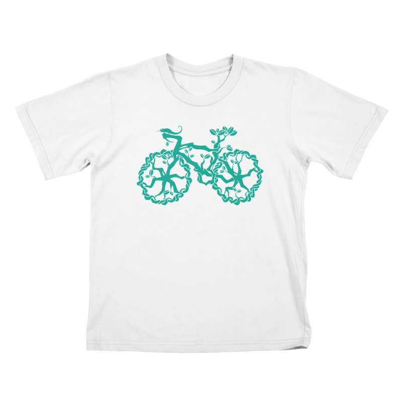 Bike Tree Kids T-Shirt by redmunky's Artist Shop