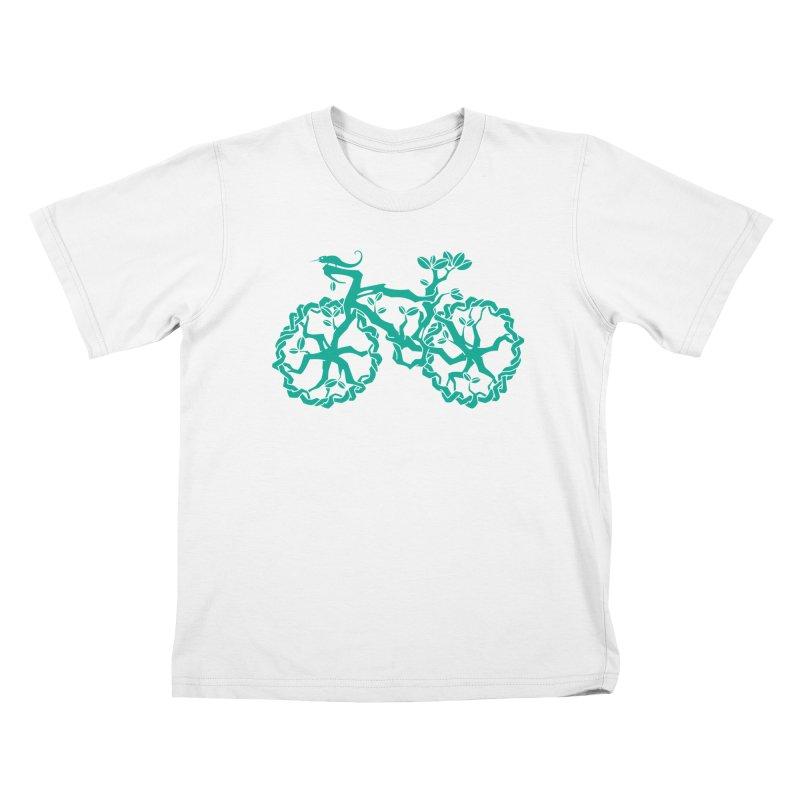 Bike Tree Kids T-shirt by redmunky's Artist Shop