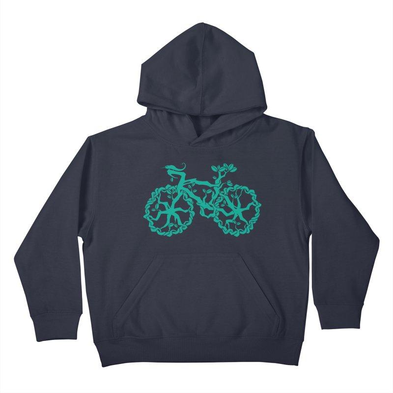 Bike Tree Kids Pullover Hoody by redmunky's Artist Shop