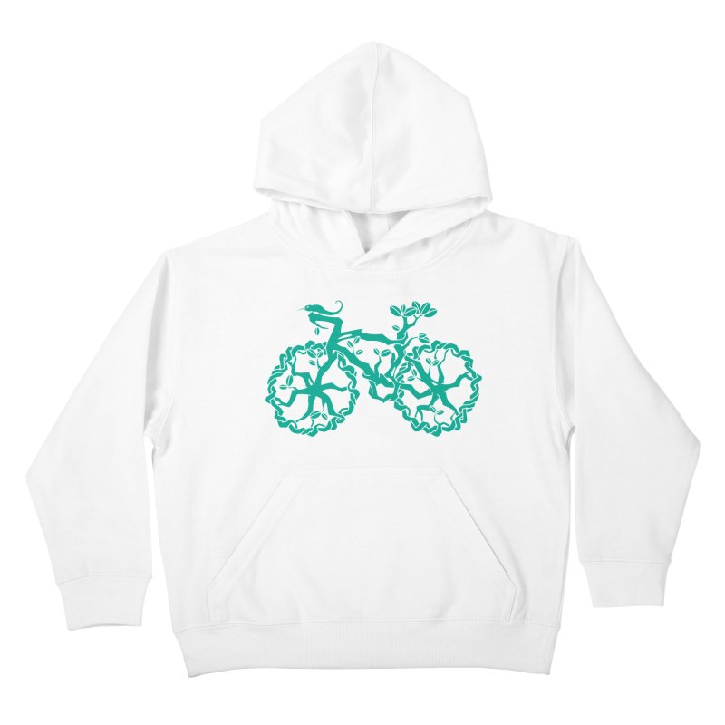 Bike Tree Kids Pullover Hoody by redmunky's Artist Shop