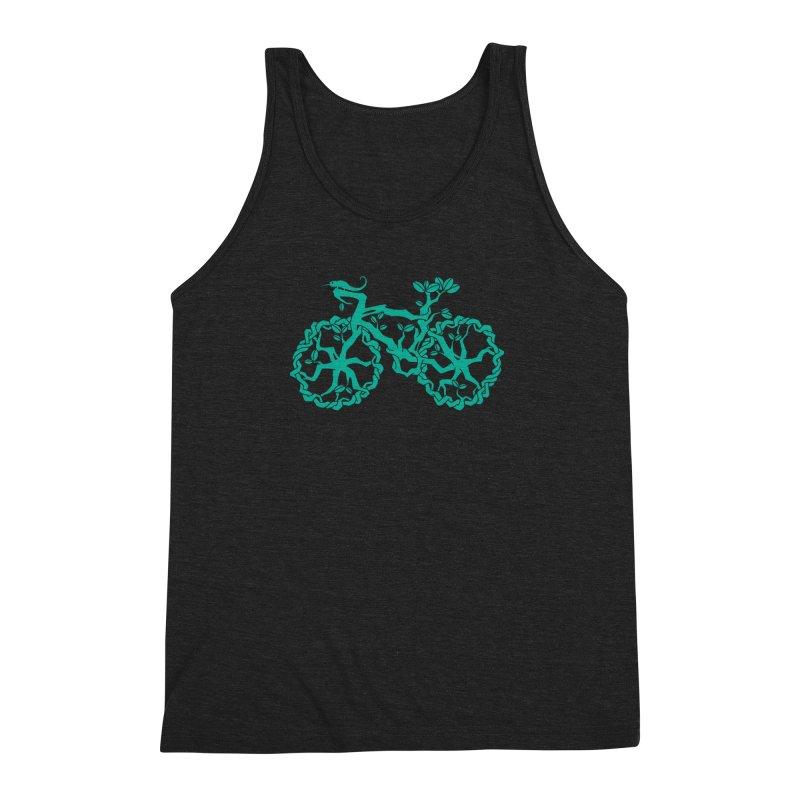 Bike Tree Men's Triblend Tank by redmunky's Artist Shop