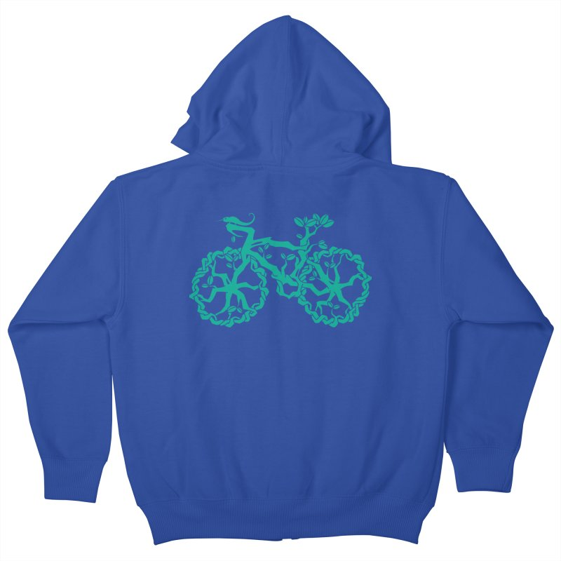 Bike Tree Kids Zip-Up Hoody by redmunky's Artist Shop