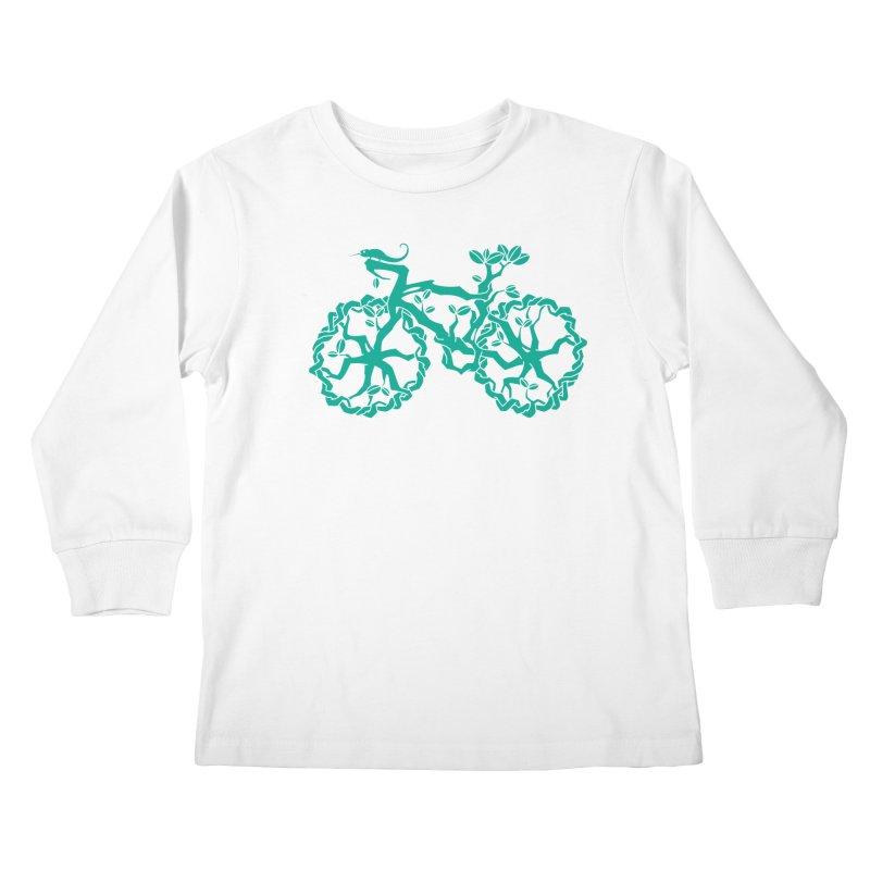 Bike Tree Kids Longsleeve T-Shirt by redmunky's Artist Shop