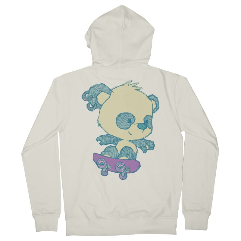 PandaSk8 Women's Zip-Up Hoody by redmunky's Artist Shop