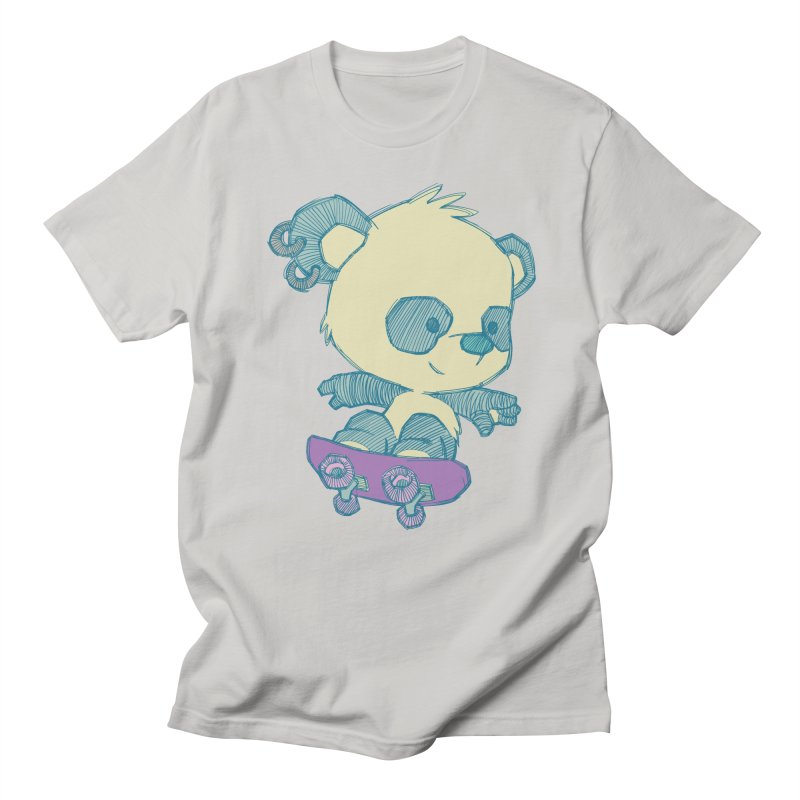 PandaSk8 Men's T-shirt by redmunky's Artist Shop