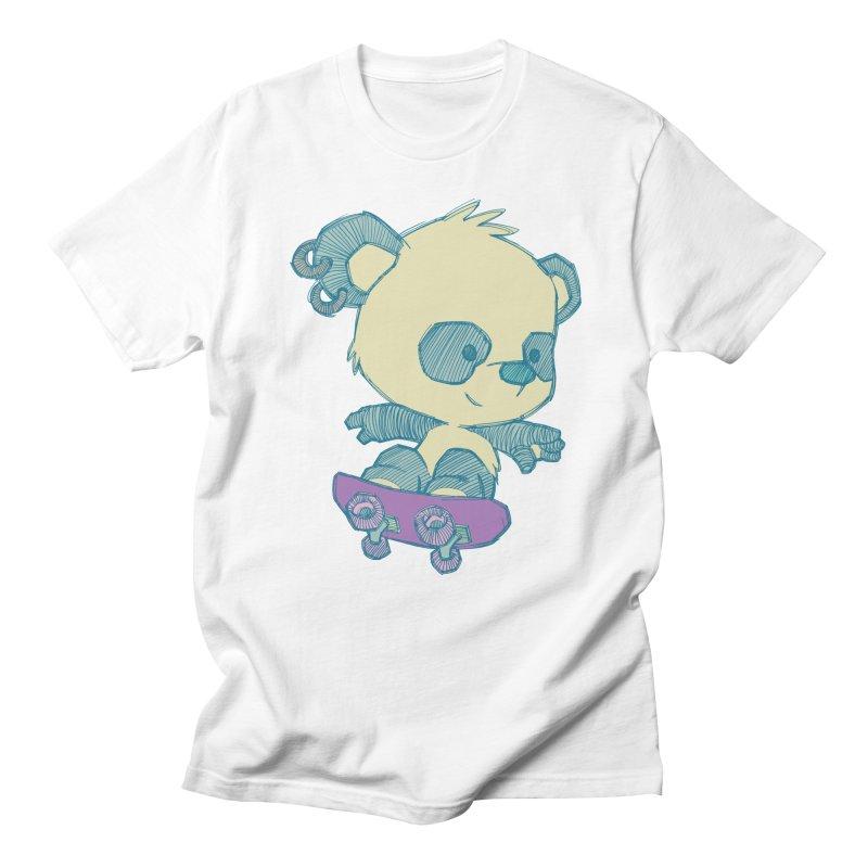 PandaSk8 Men's T-shirt by redmunky's Artist Shop
