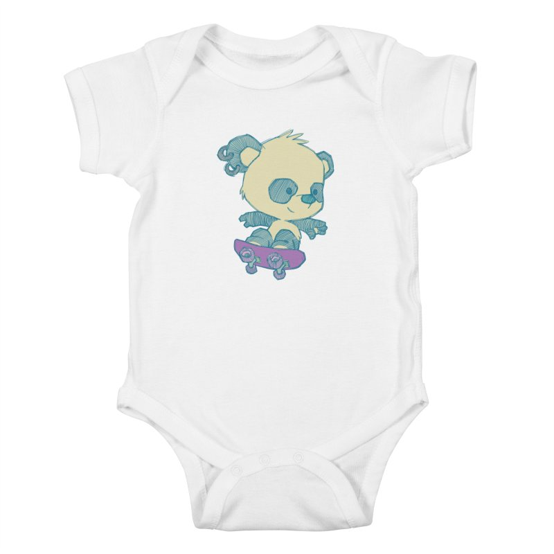 PandaSk8 Kids Baby Bodysuit by redmunky's Artist Shop