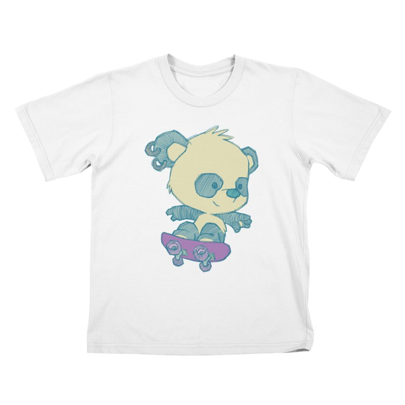 PandaSk8 Kids T-Shirt by redmunky's Artist Shop