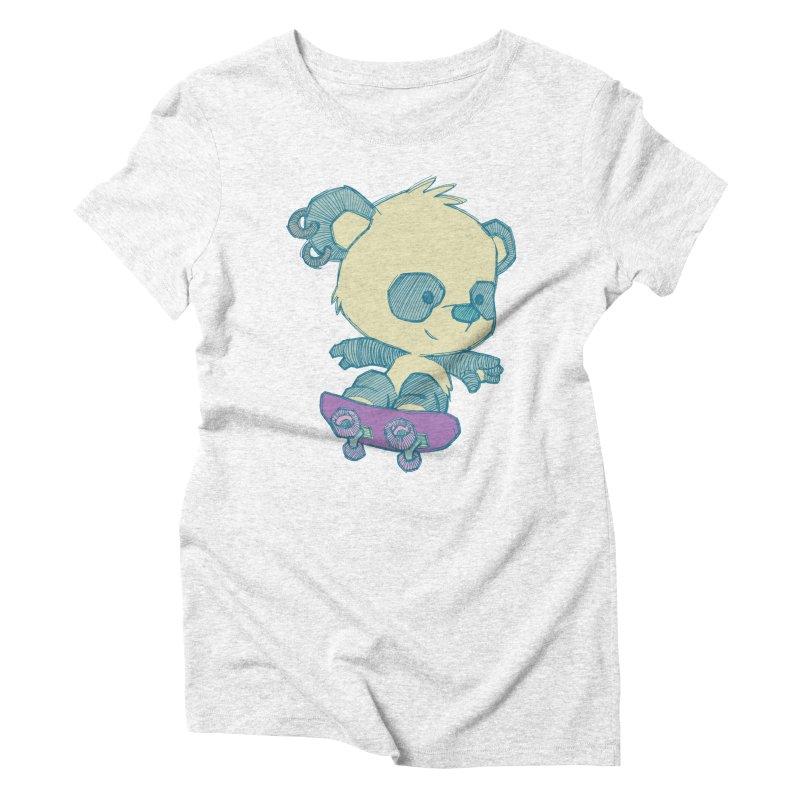 PandaSk8 Women's Triblend T-shirt by redmunky's Artist Shop